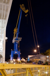 Blue Dock Crane